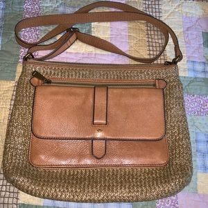 Fossil straw purse